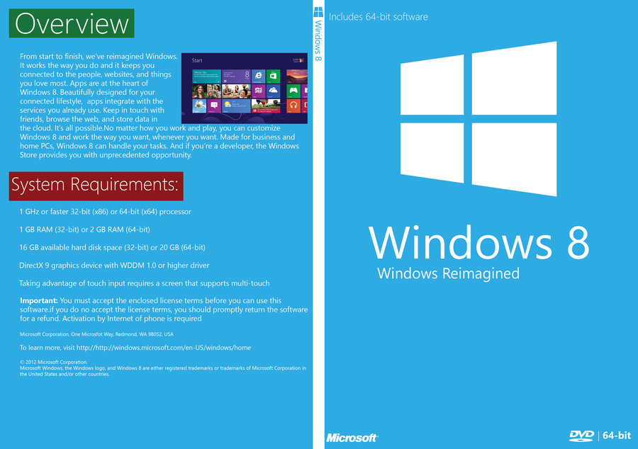 Windows 8 Free Download Full Version ISO 32 / 64 Bit