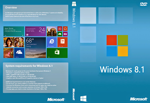 Windows 8.1 Free Download Full Version ISO 32 / 64 Bit