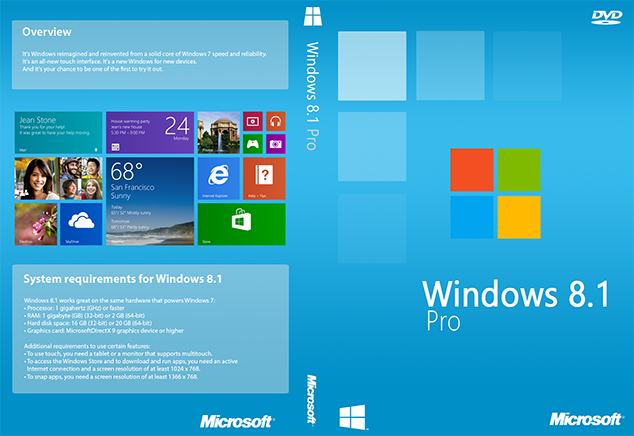 Windows 8.1 Pro Free Download ISO 32 / 64 Bit