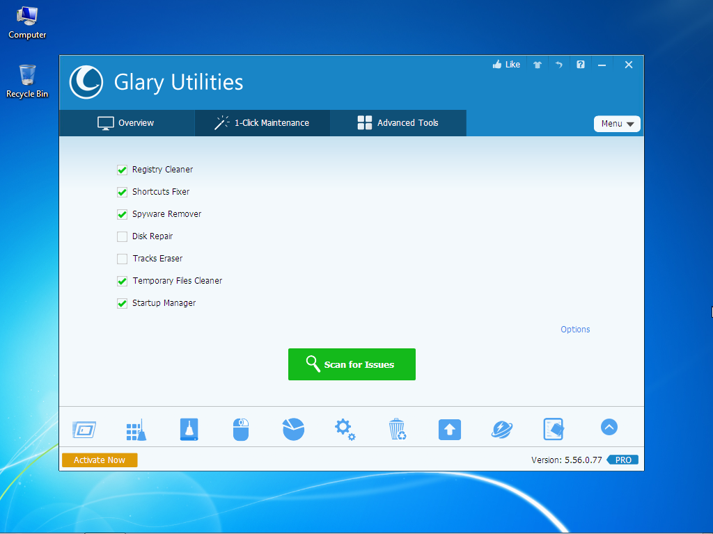 Free Download Glary Utilities Pro 32-64 bit