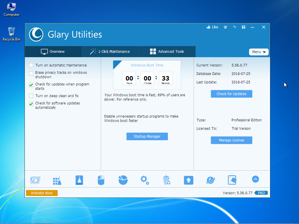 Glary Utilities Pro Free Download Full Version